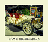 1909 Sterling Model K Antique Automobile Premium Poster