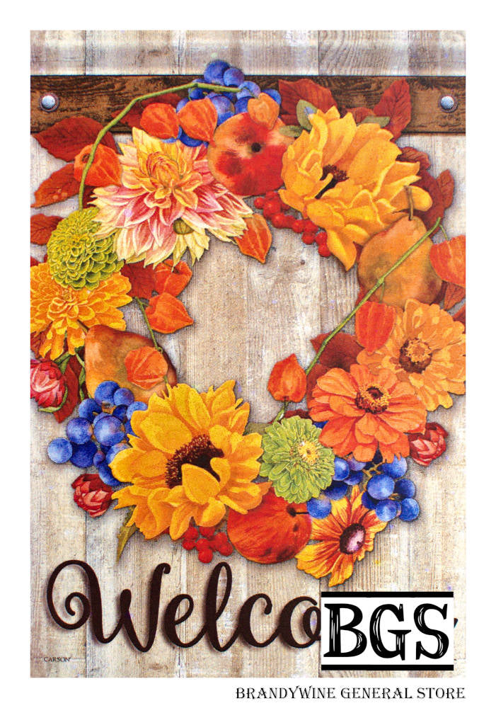 Autumn Bounty Wreath Decorative Flag
