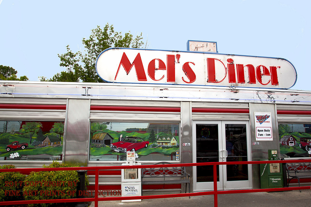 Mel's Diner in Pigeon Forge Tennessee Art Print