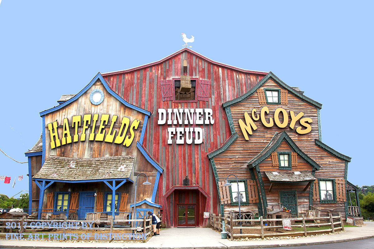 Hatfield and McCoy's Dinner Theater Building Art Print
