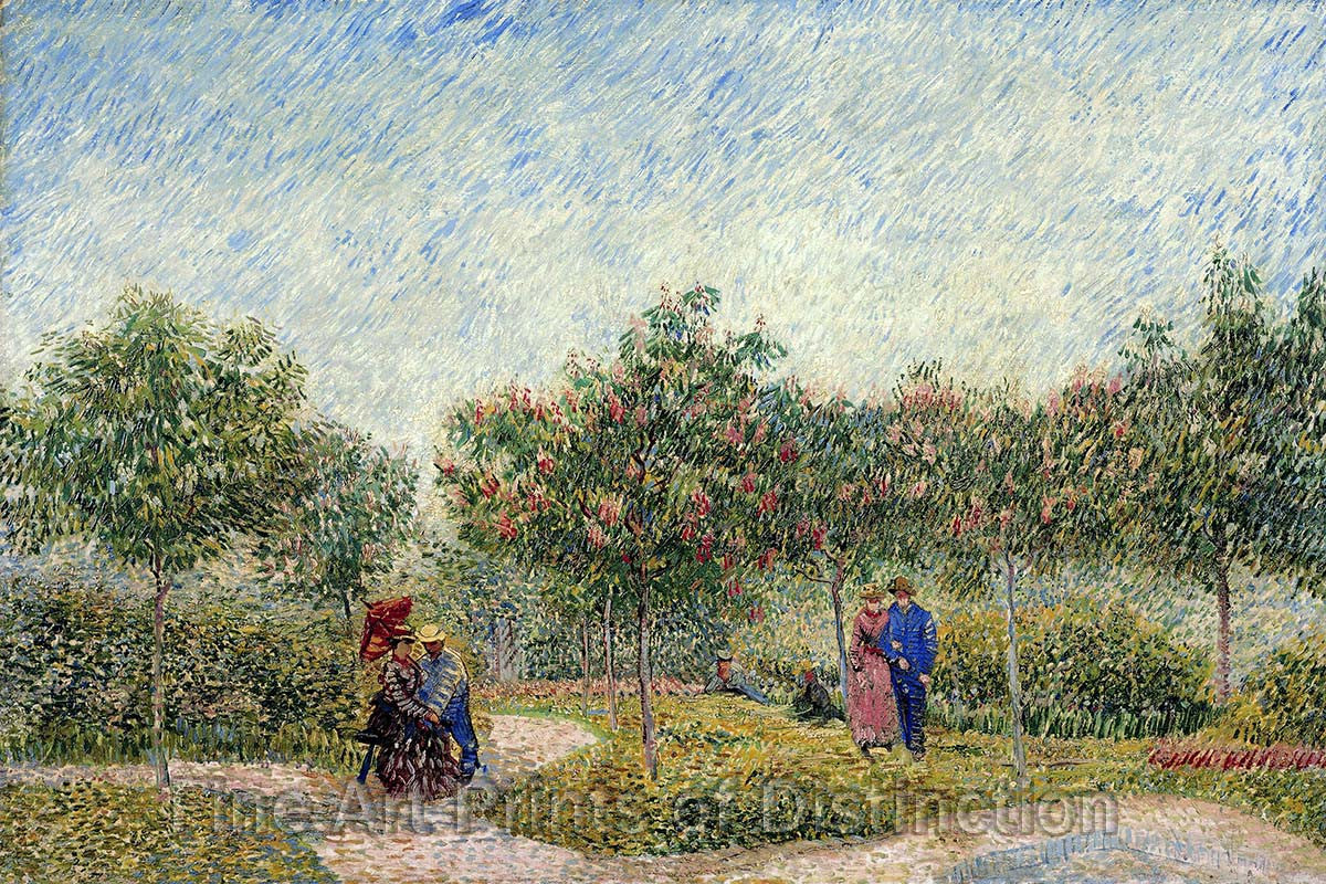 Garden in Montmartre with Lovers painted by Vincent Van Gogh