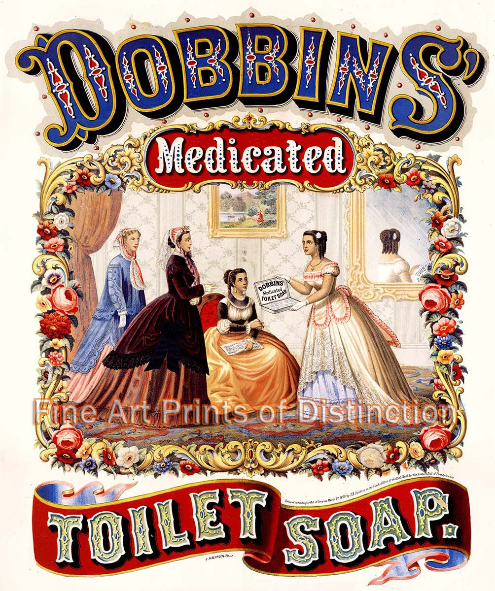 Dobbins Medicated Soap Advertising Reproduction Lithograph Print