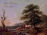 Landscape with Shepherd Painted by Charles Towne
