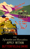 Yangtsze Gorges China Tourism Poster