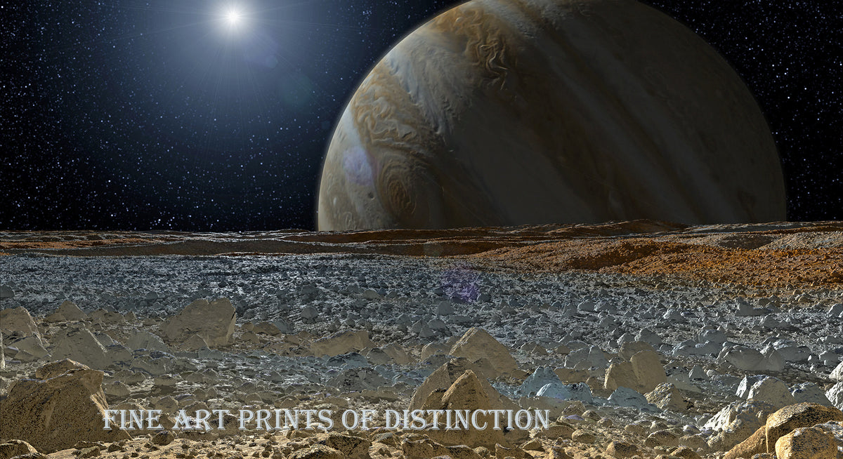 Artist's Concept of A View from Europa art print