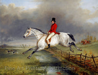 A Master of the Royal Buckhounds on a Grey Hunter Horse by George Henry Laporte