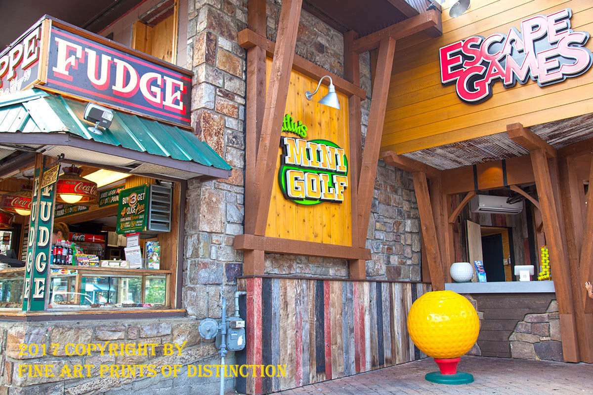 Escape Games and Mini Golf at Gatlinburg Art Print