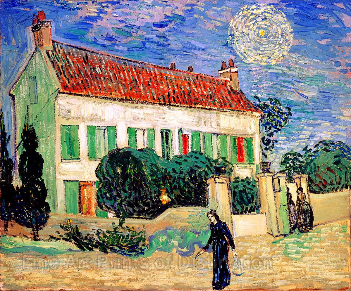 Van Gogh Vincent - White House at Night Fine Art Print