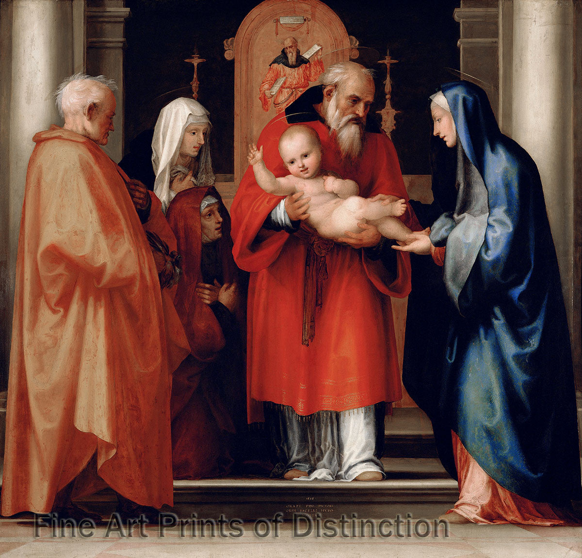 The Scene of Christ in the Temple by Fra Bartolomeo Art Print