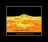 Maat Mons on the Planet Venus premium poster