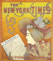 New York Times Advertisement from the year 1895 Art Print