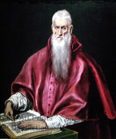 Saint Jerome as Scholar painted by El Greco