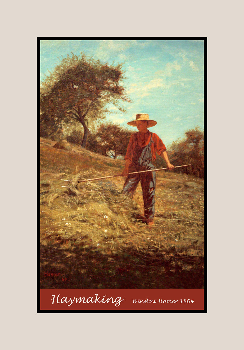 Premium poster of Haymaking painted by Winslow Homer in 1864