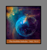 Bubble Nebula or NGC 7635 premium poster