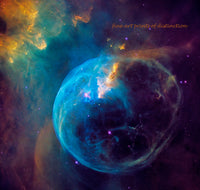 Bubble Nebula or NGC 7635 art print