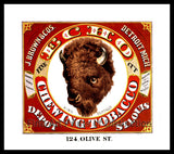 Echo Chewing Tobacco Advertising Lithograph Art Print