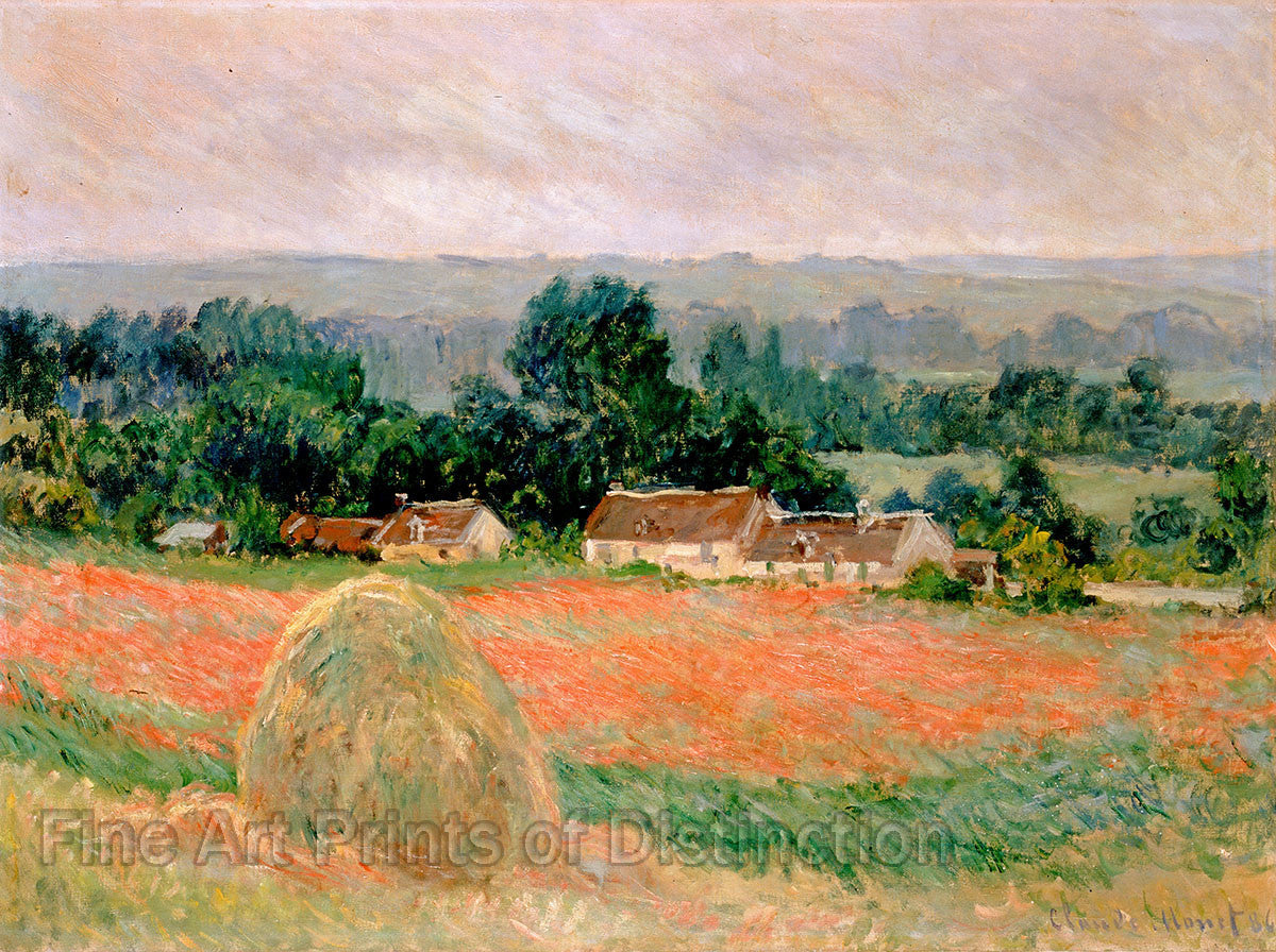 Monet Claude - Haystack at Giverny Fine Art Print