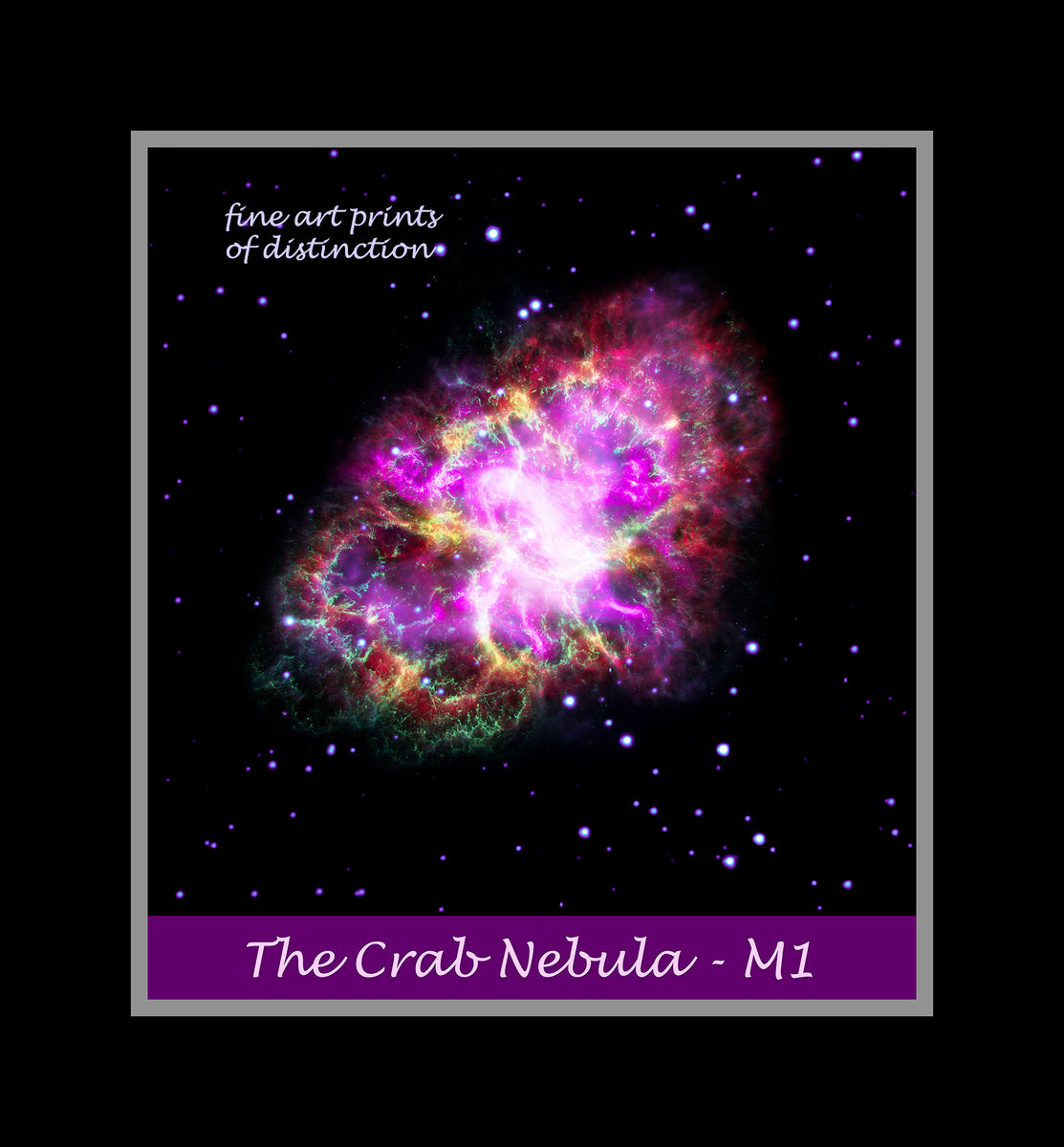 The Crab Nebula m1 premium poster