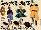 Georges Richard Cycles and Automobiles Advertising Print