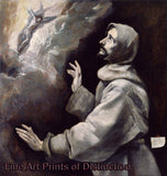 St. Francis Receiving the Stigmata by El Greco Art Print