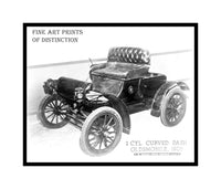 1905 Oldsmobile 1 Cylinder with Curved Dash Antique Car premium print