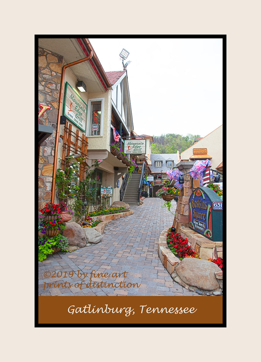 The Shops at Baskins Square in Gatlinburg, Tennessee premium poster
