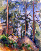 Pines and Rocks by Paul Cezanne
