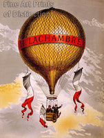 H. Lachambre Balloon French Advertising Lithograph