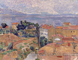 Gegend bei Marseille by Paul Cezanne