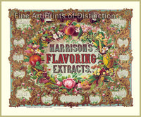 Museum Quality Print of an Advertisement for Harrison's Flavoring Extracts