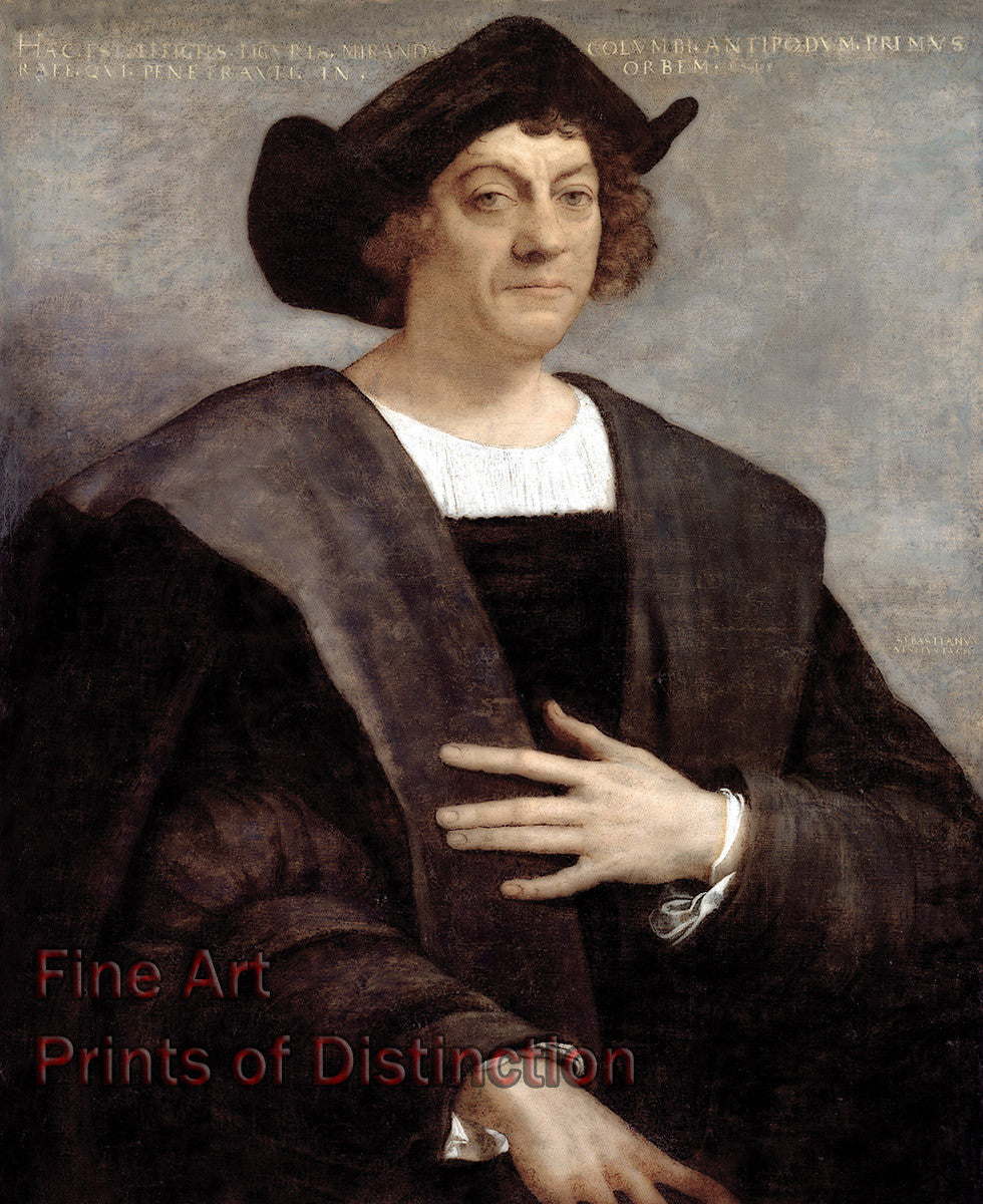 Portrait of a Man, Said to be Christopher Columbus painted by Sebastiano del Piombo