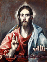 Christ Blessing by El Greco