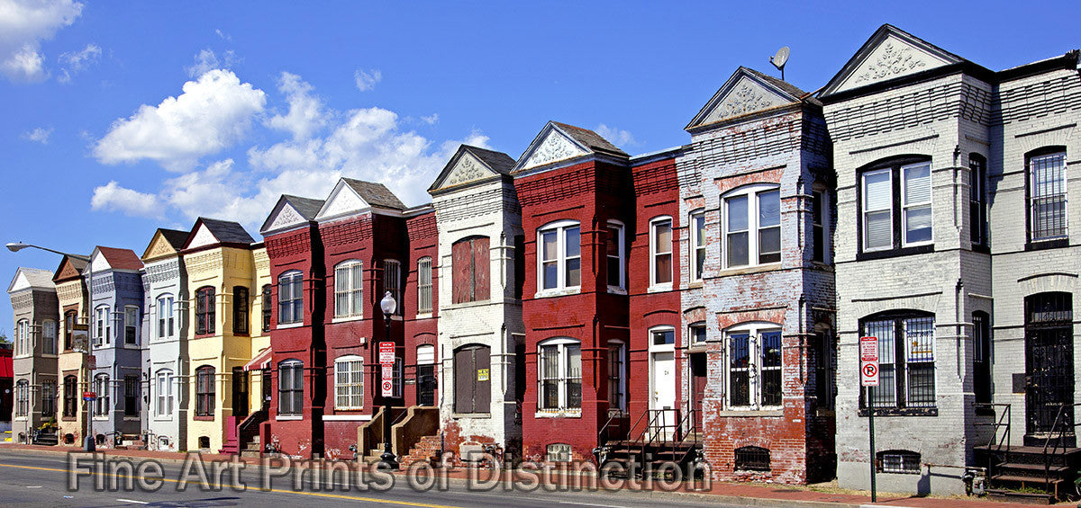 Row Houses of Many Colors in Washington DC Art Print