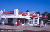 Exxon Gas Station in 1970s Arkansas Premium Print