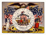 USA Our Standard Coffee Advertising Woodcut Print
