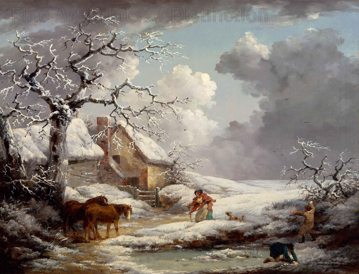 Winter Landscape by the artist George Morland