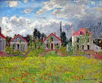 Houses at Argenteuil painted by Claude Monet