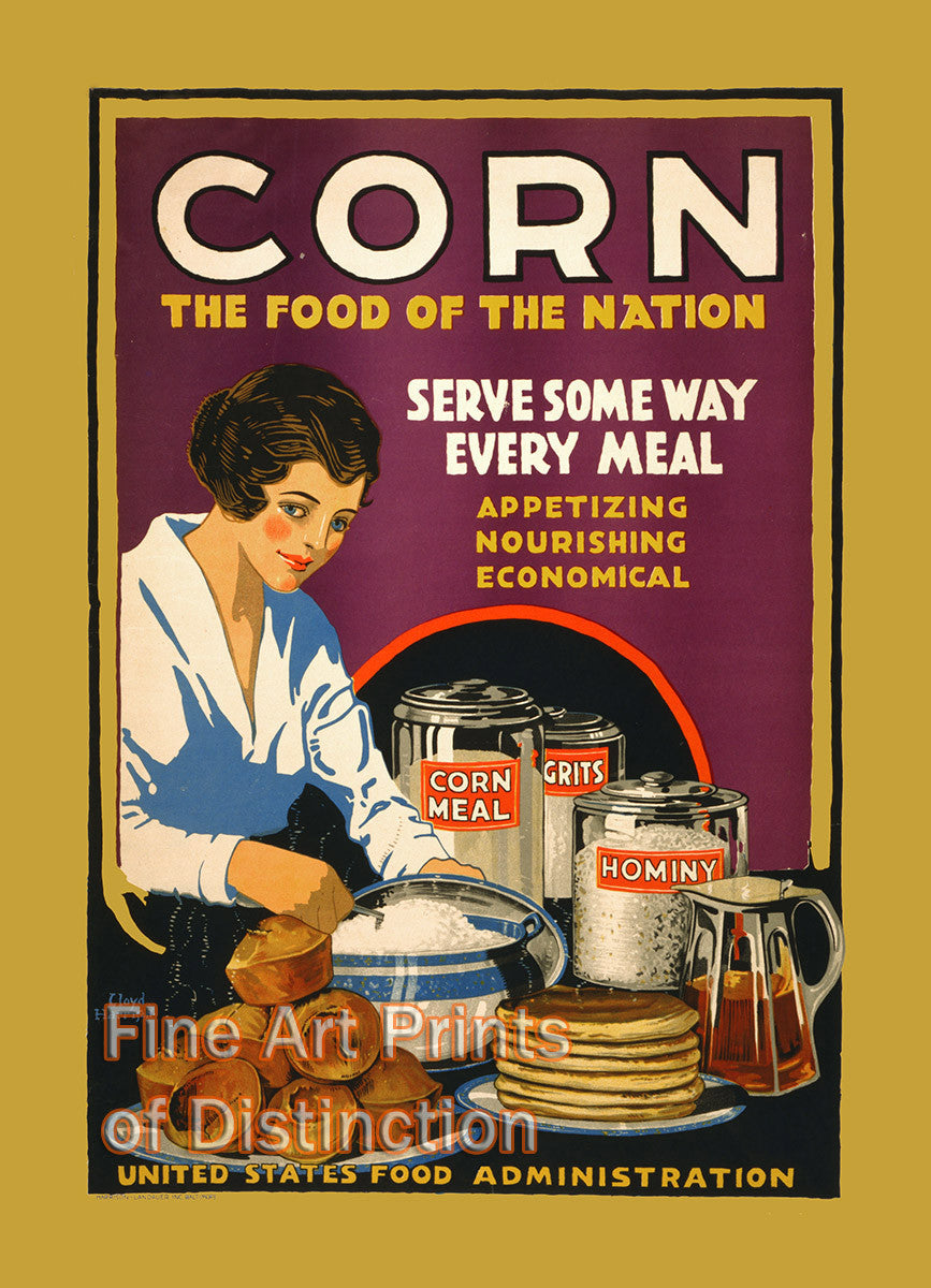 Corn the Food of a Nation Advertising Poster