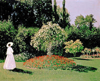 The Woman in the Garden by Claude Monet