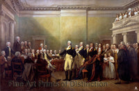 General Washington Resigning his Commission by John Trumbull Art Print