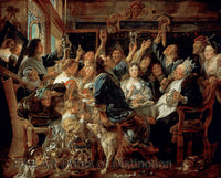 Feast of the Bean King by Jacob Jordaens