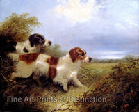 Two Terriers painted by Edward Armfield