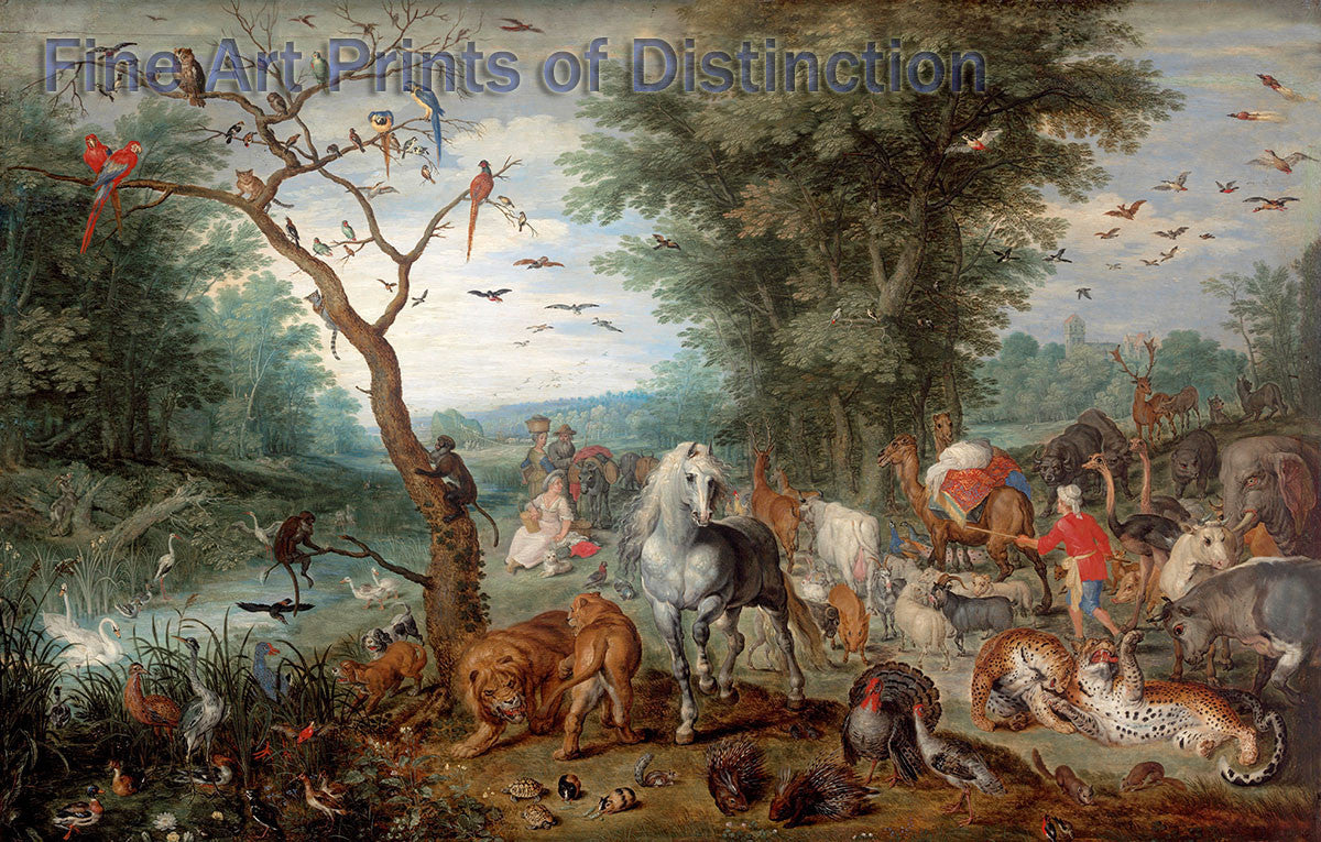 Paradise Landscape with Animals by Jan Brueghel the Younger Art Print