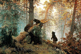 Morning in a Pine Forest by Ivan Shishkin