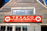 Texaco Petroleum Products Metal Sign on a Barn premium print