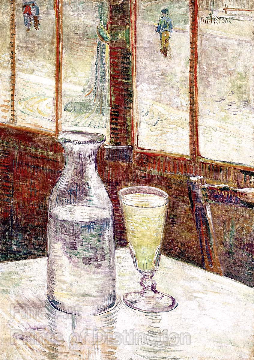Cafe Table with Absinthe by Vincent Van Gogh
