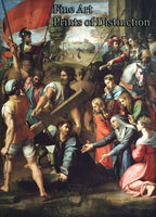 A Religious Art Print of Christ Falling on the Way to Calvary by Raphael