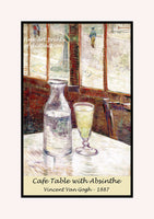 A premium poster of Cafe Table with Absinthe painted by Vincent Van Gogh in 1887
