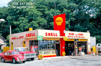 Shell 1960s era NY Gas Station Premium Print