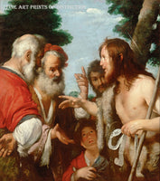 The Sermon of St. John the Baptist painted by Flemish Artist Bernardo Strozzi